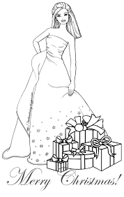 Barbie Coloring Pages Christmas