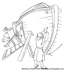 Coloring Page Noah And The Flood Cool Noahs Ark