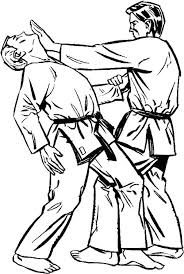 Karate Master Teach Attack Move Coloring Pages