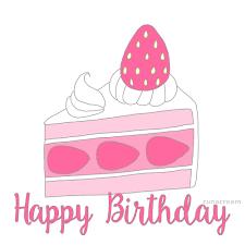 birthday cake slices pretty ecard animation