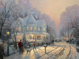 Thomas Kinkade Christmas Tree Village by Holiday Gathering A U2013 Limited Edition Art The Thomas Kinkade