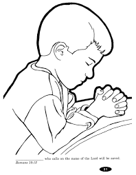 Free Lords Prayer Coloring Pages For Children And Parents Praying Child Page