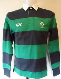 ireland rugby green l s striped jersey by canterbury size small
