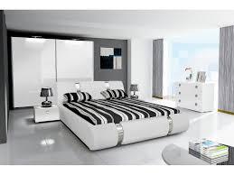 komplett hochglanz schlafzimmer riva ii mit designer polsterbett weiß oder schwarz