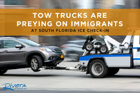 100 Pictures Of Tow Trucks Are Preying On Immigrants At South Florida ICE Checkin