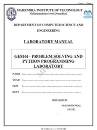 Java Mathceil Example And Output by Ge8161 U2013 Problem Solving And Python Programming Laboratory C