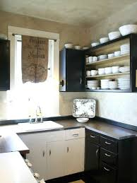KitchenBlack Kitchen Decor With Small Black Open Cabinet And Counter Feat White Sink