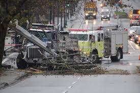 100 Truck Wrecks Videos Dump Truck Crashes Into Hydro Pole In North Surrey North Delta