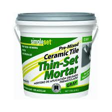 Mapei Porcelain Tile Mortar Msds by Simpleset Pre Mixed Thin Set Mortar 1 Qt Tile Grout Amazon Com