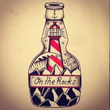 Rock Tattoo Art Tatoo Bottle Lighthouse Tattoos Old School Traditional Flash Inspiration