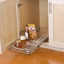 smart design ausziehbarer schrank organizer mit 1 ebenen klein ausziehbare schublade stahl metall hält 45 4 kg küche 30 5 x 45 7 88 9 cm