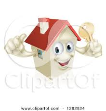 Royalty Free RF House Key Clipart Illustrations Vector Graphics 1