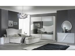 schlichter schlafzimmer set alessandria hochglanz weiß schrank 2 türig größe wählbar 2x nachttische kommode spiegel rund