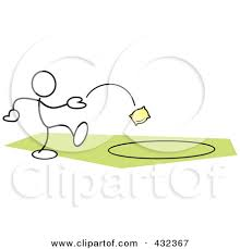 Cartoon Bean Bag Toss Clipart