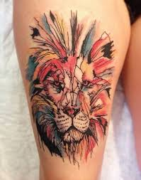 Native Lion Tattoo 6 Colorful Tribal African Designs
