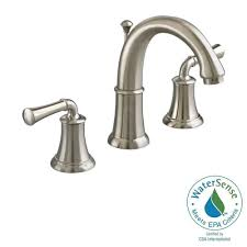Brushed Nickel Bathroom Faucets Home Depot by American Standard Portsmouth 8 In Widespread 2 Handle High Arc