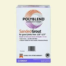 Polyblend Sanded Ceramic Tile Caulk New Taupe by Custom Building Products Polyblend 333 Alabaster 7 Lb Sanded