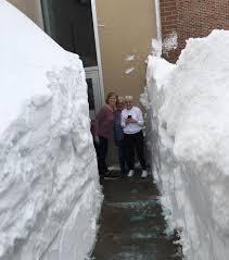 An April Storm Caused A 10 Foot High 20 Long Snow Drift