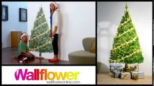 8ft Christmas Trees Artificial Ireland by Wallflower Space Saver Christmas Trees Youtube