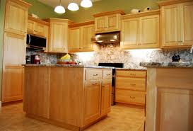 kitchen design with wooden maple cabinets and marbles