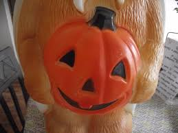 Fiber Optic Pumpkin Decorations by Blow Mold Yard Decoration Halloween Pumpkin 24 Racoon Bear Plastic