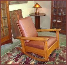 Charles Stickley Rocking Chair by Voorhees Craftsman Mission Oak Furniture Rockers