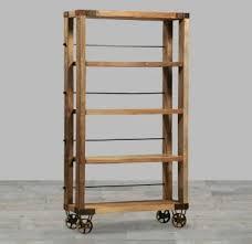 Solid Reclaimed Wood With Light Wax Finish Bookshelf