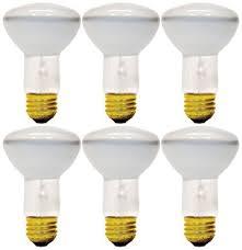 set of 6 bulbs ge soft white indoor floodlight 45 watt 350