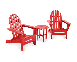 POLYWOOD PWS214-1-SR Classic Adirondack Chair Seating Set, Sunset Red Cheap Poly Wood Adirondack Find Deals Cool White Polywood Bar Height Chair Adirondack Outdoor Plastic Chairs Classic Folding Fniture Stunning Polywood For Polywood Slate Grey Patio Palm Coast Traditional Colors Emerson All Weather Ashley South Beach Recycled By Premium Patios By Long Island Duraweather