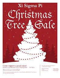 Xi Sigma Pi Christmas Tree Sale