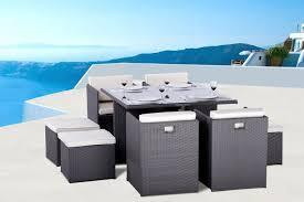 tables de jardin en resine mobilier de jardin en résine tressée et résine ronde spécialiste