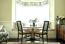 Bay Window Seat In Dining Room With Curtain