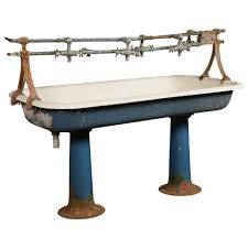 Sherle Wagner Italy Sink by Vintage Industrial Double Pedestal Sink At 1stdibs
