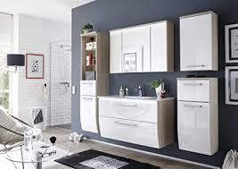 badmöbel badezimmer relax 6tlg set in hochglanz weiss inkl