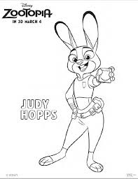 FREE ZOOTOPIA Coloring Pages And Printable Activity Sheets