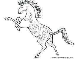 Arabian Horse Coloring Pages To Print Appaloosa Flying