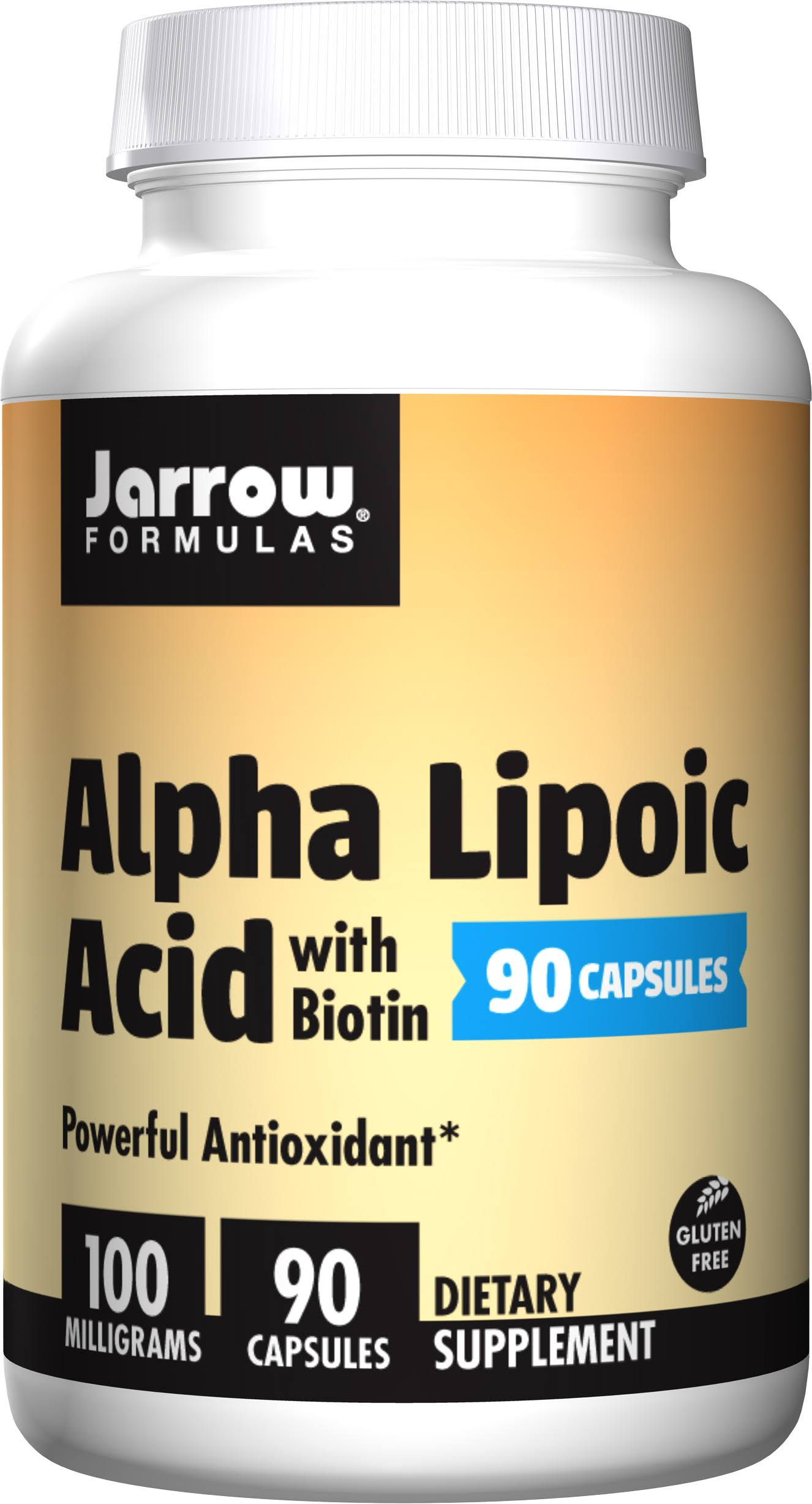 Jarrow Formulas Alpha Lipoic Acid with Biotin Supplement - 100mg, 90 Capsules