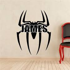 Superhero Comic Wall Decor by Spiderman Logo Wall Decal Superhero Comics Vinyl Sticker Room