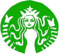 Starbucks Logo As Medusa