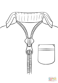Click The Sweater With Zipper Coloring Pages To View Printable Version Or Color It Online Compatible IPad And Android Tablets