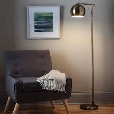 Overarching Floor Lamp Brass by Edris Metal Globe Floor Lamp Brass Project 62 Target