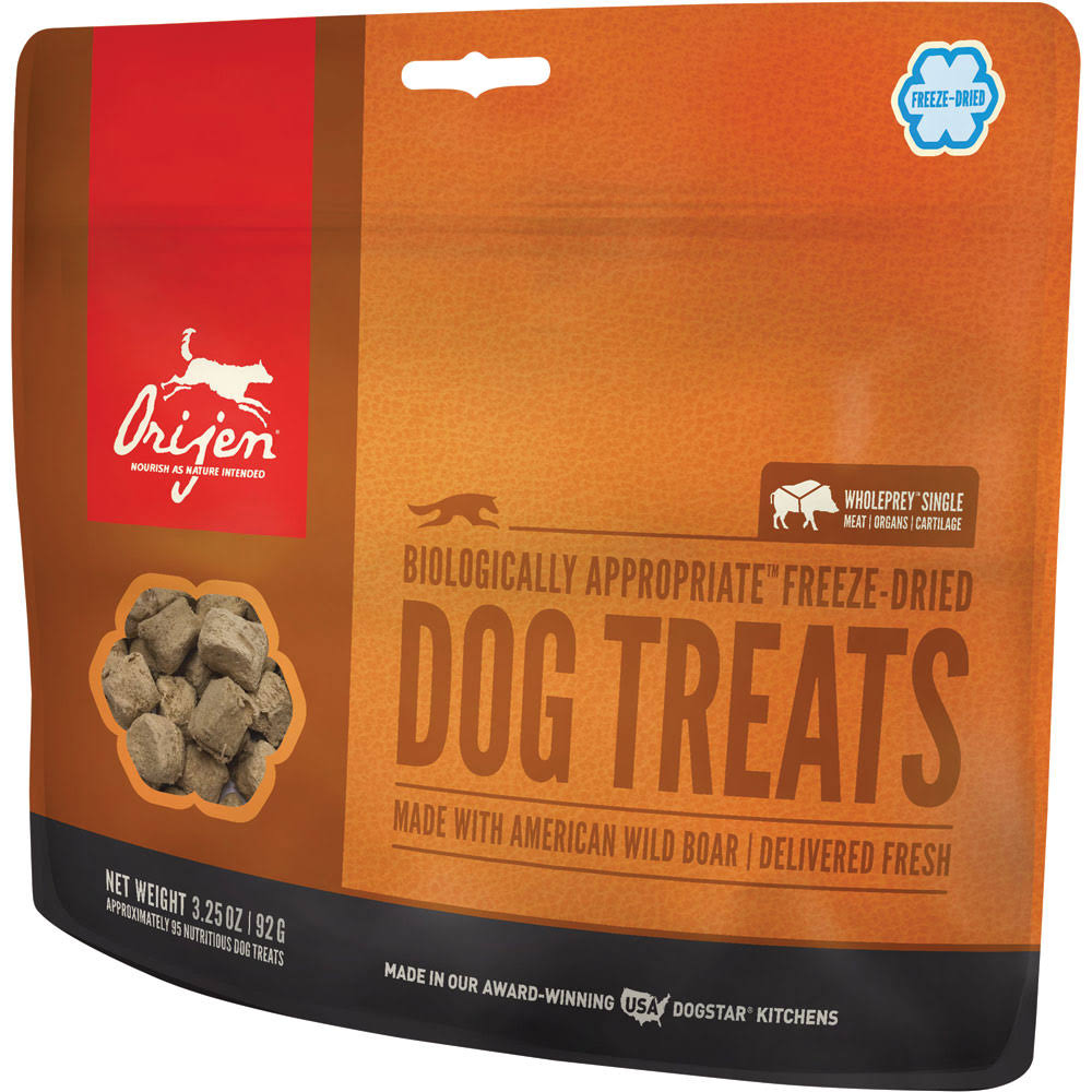 ORIJEN Freeze Dried Dog Treats Wild Boar 3.25 oz