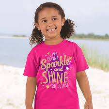 sparkle and shine kids t shirt glitter shirt star girls shirt