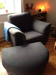 ikea 3 seater couch with matching armchair and foot stool
