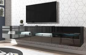 tv lowboard rial hochglanz schwarz hängend 200 cm