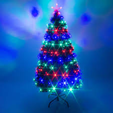 Small Fibre Optic Christmas Trees Uk by Green Fibre Optic Led Lights Remote Control Xmas Tree U2013 Garden Trends