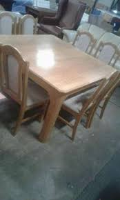 9 Pc Solid Oak Dining Room Suite For Sale