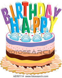 Clipart birthday cake with candles Fotosearch Search Clip Art Illustration Murals