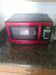 Red Emerson Microwave Oven