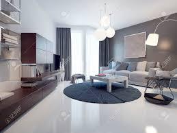 vorstellung zeitgenössischer wohnzimmer weiße und graue wände poliert und lack weißen betonböden vom boden bis zur decke reichenden